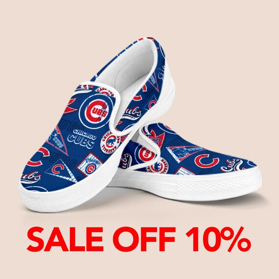 on Custom Chicago Cubs Series Baseball Shoes Shoes Vans Cubs Outfit Cubs Chicago Chicago Shoes Slip Shoes Chicago World Cubs Unisex wq85SUax