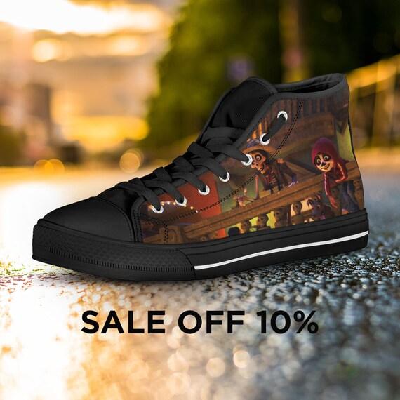 e2408dbee2b7 Converse Shoes Birthday Converse Custom Coco Custom Shoes Top Coco High  Pixar Disney Sneaker Coco Movie ...