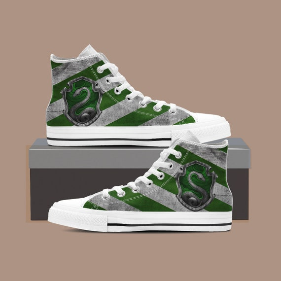 66bc2b3b0f9b ... Huffflepuff Ravenclaw Shoes Shoes Harry Top Shoes Harry Potter High Custom  Potter Custom Slytherin Gryffindor Converse