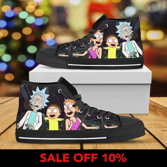 and Morty Morty Converse And Rick Gift Sneaker Rick Custom Sanchez Rick Smith Morty Rick Morty Shoes High Top and Custom Converse Shoes zpTqx5w7