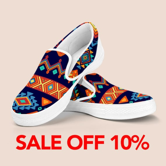 Aztec Bohemian On Pattern on Aztec Aztec Low Shoes Tribal Vintage top Slip Vans Print Vans Shoes Slip Custom Shoes Shoes Bohemian shoes rTqSxFCfwr