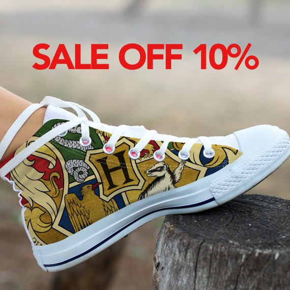 Huffflepuff Gryffindor Harry Potter High Shoes Top Hogwarts Shoes Ravenclaw Hogwarts Custom Shoes Converse Slytherin Potter Harry Custom YxO0H0Tq6