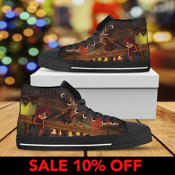 84432af9bf8b ... Converse Shoes Birthday Converse Custom Coco Custom Shoes Top Coco High  Pixar Disney Sneaker Coco Movie ...