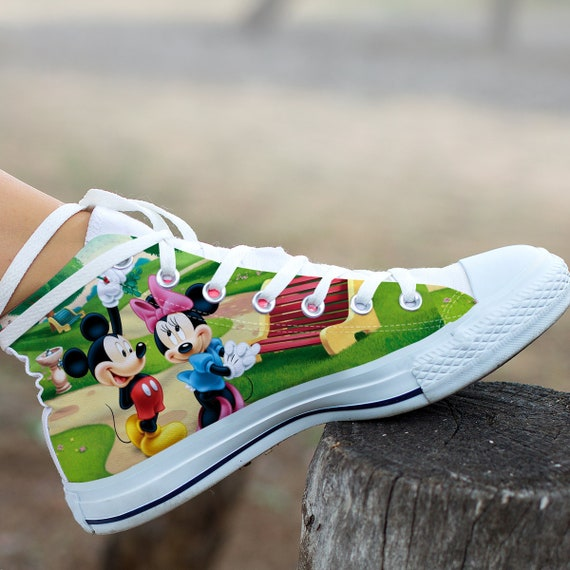 Custom Minnie Mickey Converse Mickey Duck High Donald and Custom Mickey Mickey and Shoes Custom Top Shoes Friends Mouse Shoes Disneyland dnFFIrW