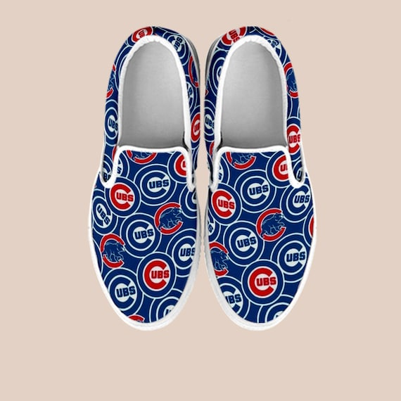 on Cubs Shoes Chicago Shoes Series Baseball Outfit Slip Cubs Vans World Custom Chicago Cubs Unisex Shoes Chicago Cubbies Cubs Shoes xnggwtP