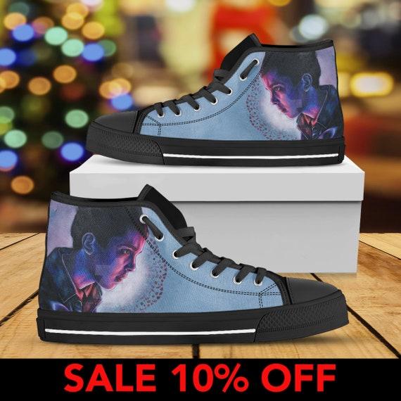 Converse Shoe Shoes Netflix Stranger Custom The Upside Things Eleven Things Down Stranger Things Shoes Eleven Converse Top Stranger High zHUxw0q7