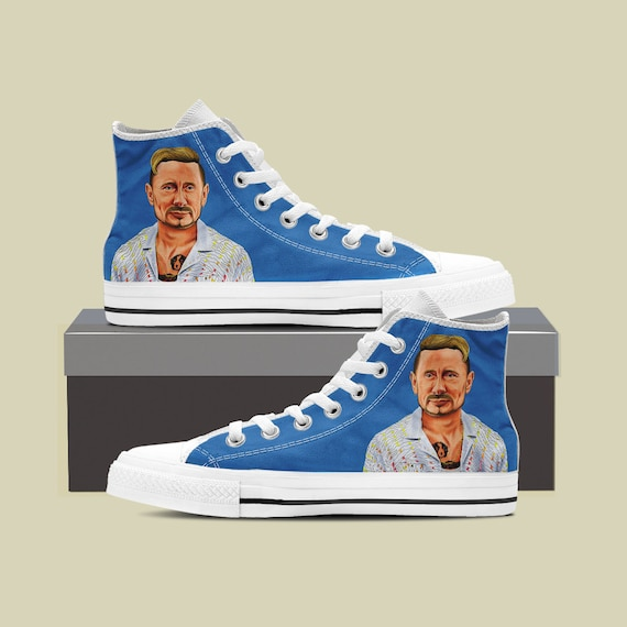 Custom Russia Sneaker Vladimir Shoes Putin Putin Russian Putin Funny Custom Top President Converse Custom Shoes Political Converse High qOx4wvZg