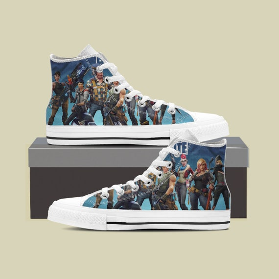 High Party Custom Shoes Shoes Fortnite Custom Fortnite Converse Fortnite Royale Squad Birthday Battle Fortnite Top Converse Fortnight wPxzqy550U