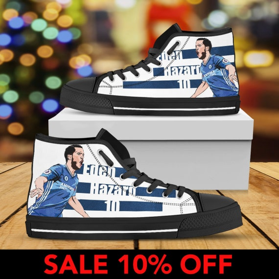 Eden Eden Eden High Hazard Custom Eden Chelsea Shoes Belgium Chelsea Hazard FC Sneaker Shoes Custom Football Hazard Top Hazard Converse fSpqrfwn