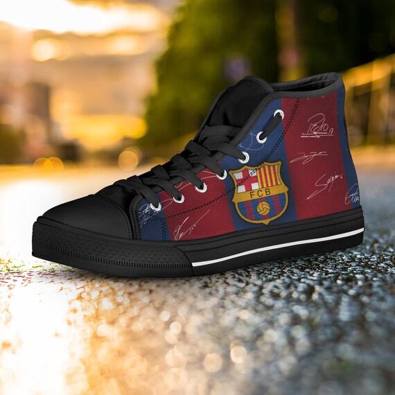 Custom High Sneaker Shoes Barcelona Custom Barcelona Barcelona Converse Converse Custom Top Shoes Barca Barca Messi FC Shoes Barca WYRqz6