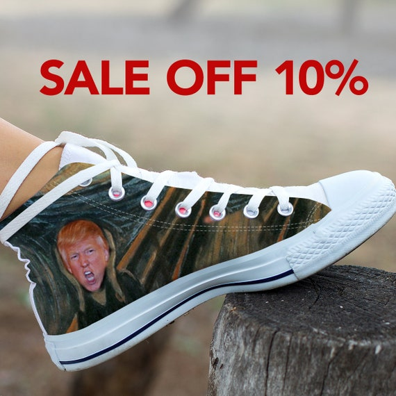 Converse Trump Converse Top President Donald Trump High Politics My Donald Trump Shoes Anti Trump Custom Not Funny Shoes Shoes Custom wwXPqzO1