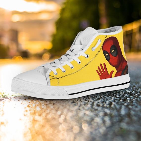 155ecd23cc6d29 ... Deadpool Top Wade Wilson Gift Deadpool Custom Captain Custom America  Shoes Deadpool Converse Shoes Converse Shoes