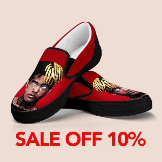 XXXtentacion on XXX Custom Shoes Rapper Revenge Shoes Custom Custom XXXtentacion XXXtentacion XXXtentacion Rip Rap Slip Shoes On Slip wWg10qIgn