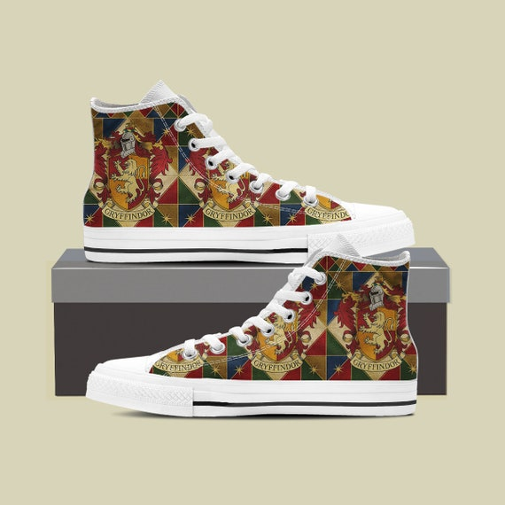 a37e3dc58060 ... Top Shoes High Potter Custom Harry Potter Shoes Converse Slytherin Harry  Ravenclaw Gryffindor Hogwarts Huffflepuff Gryffindor