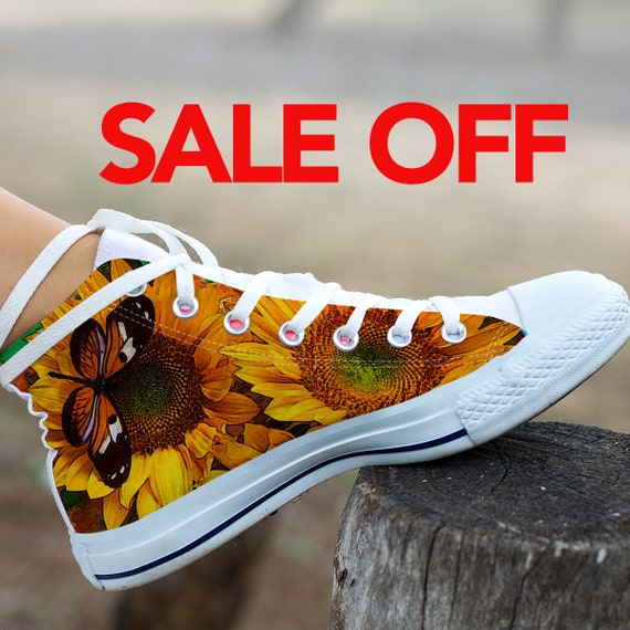 sneaker converse shoes shoes Sunflower Sunflower Sunflower Sunflower custom Wedding top Sunflower Custom high sunflower custom converse SqZIz