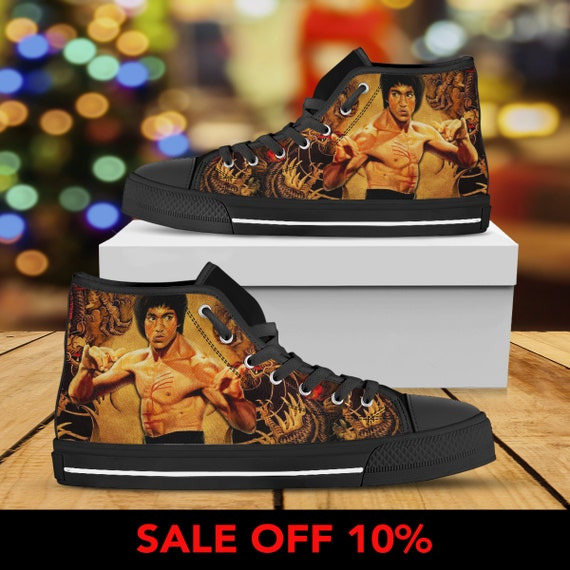 Arts Custom Kung Converse Dragon Top Lee Enter Martial Lee Sneaker Shoes fu High Converse Lee Bruce Custom Shoes Bruce Bruce The Sn1pf5O