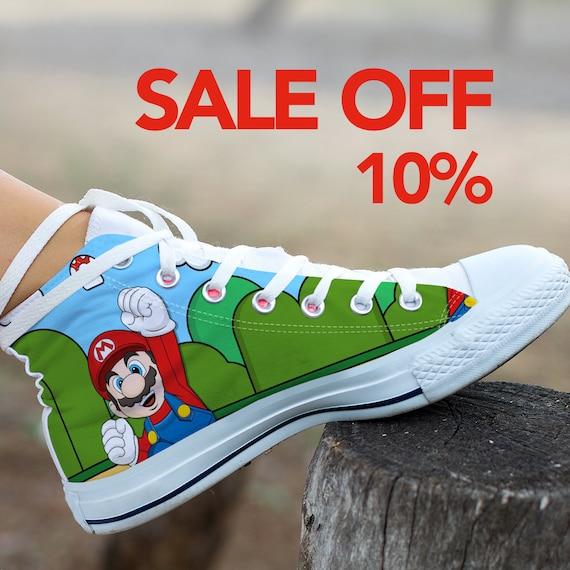 Custom Custom Shoes Super Shoes Mario Sneaker Party Birthday Custom Mario Luigi Converse Super Bros Super Converse Mario Mario Mario qqYxpfF