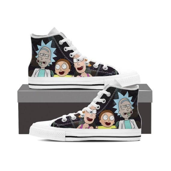 Rick Shoes Sanchez Custom Rick Morty Morty Top Morty And High Rick Morty Rick and Custom Custom Gift Shoes Converse and Converse Smith qXtgw8txr