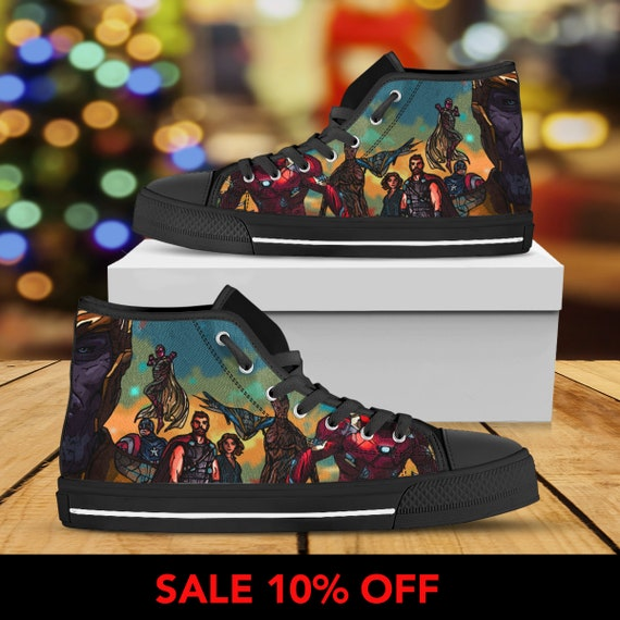 1f5d30daf0d9 ... Converse Avengers Marvel Thanos Hulk Shoes High War Man Thor Captain  Iron Top Shoes Shoes America