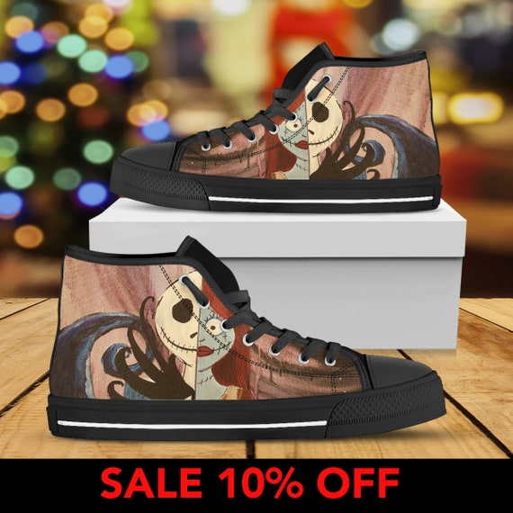 Before Sally Nightmare Sneaker Top Nightmare Shoes Skellington Custom Halloween Jack Shoes Christmas Jack High Converse And Christmas nCq5wxROX