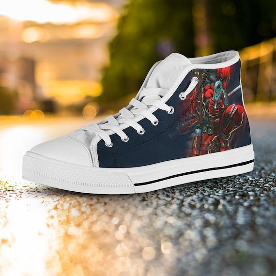 Gift Captain Wilson Wade Shoes Shoes Custom Deadpool Deadpool Shoes Marvel Custom Top High America Converse Converse Custom Deadpool xqzqBtwFA