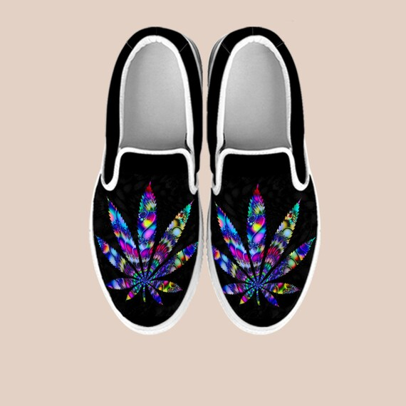 shoes on weed vans 420 Weed cannabis shoes Shoes weed handmade custom Slip Slip Cannabis art Shoes shoes custom on Marijuana weed 420 HwOTqzxq
