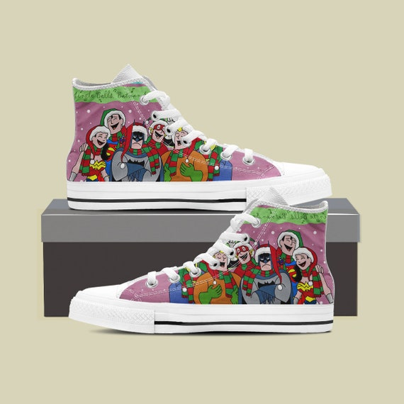 Top Shoes Christmas Justice Custom Justice High High League Converse League Steppenwolf Converse Justice Shoes Sneaker Custom Top League 1XB4nwqBO