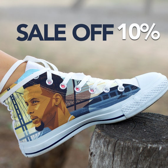 Warriors NBA Custom Shoes Custom Converse State High Basketball Curry Stephen Steph Curry Shoes Curry Custom Golden Sneaker Stephen Top ZgxxnOPq