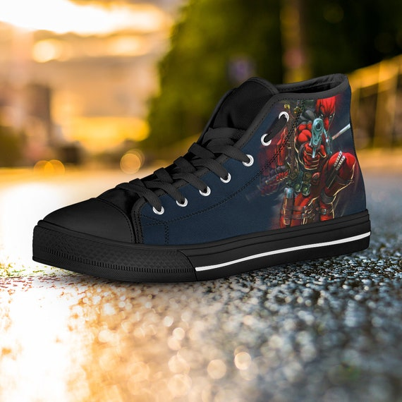 Shoes Wilson Wade Shoes Top Deadpool High Deadpool Custom Top Sneaker High Gift Custom Custom Deadpool Custom Converse Deadpool Marvel qW45ZBnwRx
