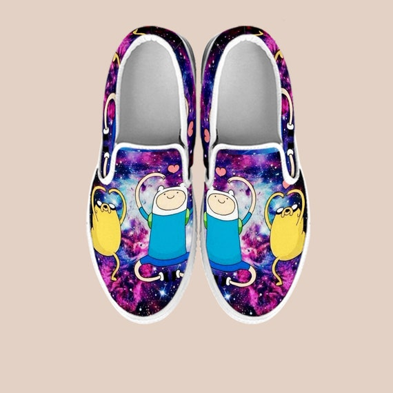 Shoes On Slip Dog Custom Shoes Jake And Vans Shoes Slip Jake Time on Cartoon Jake Adventure Time Finn The Finn Shoes Adventure Bmo APxwCqE5