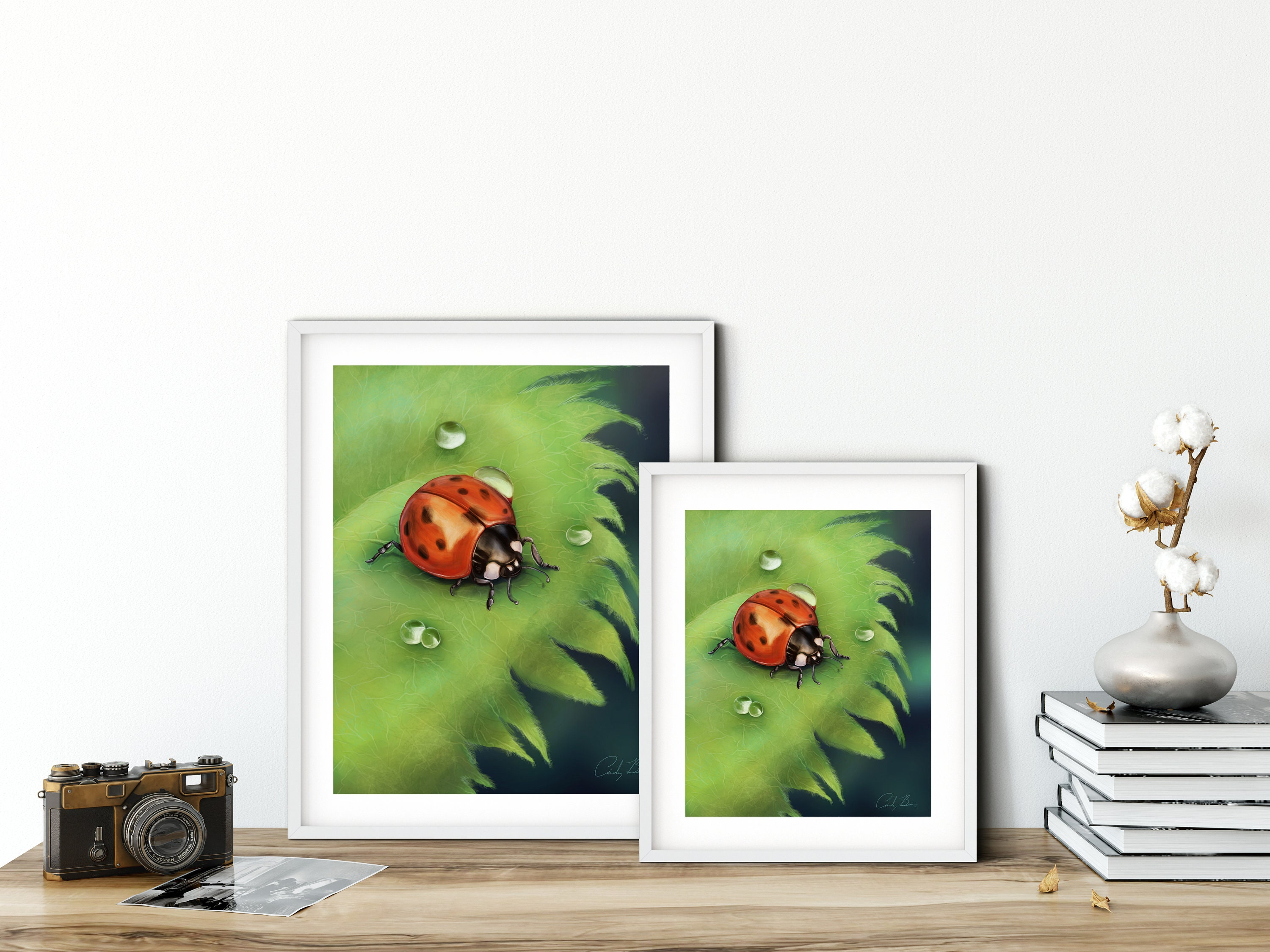 Ladybug prints animal in nature Instant Photo Download Printable Photography Digital Art Colourful Art Art for the wall Wall Decor