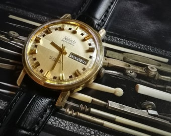 ROBERTA Automatic Day Date - Made in Germany - 25 jewels - 1960's