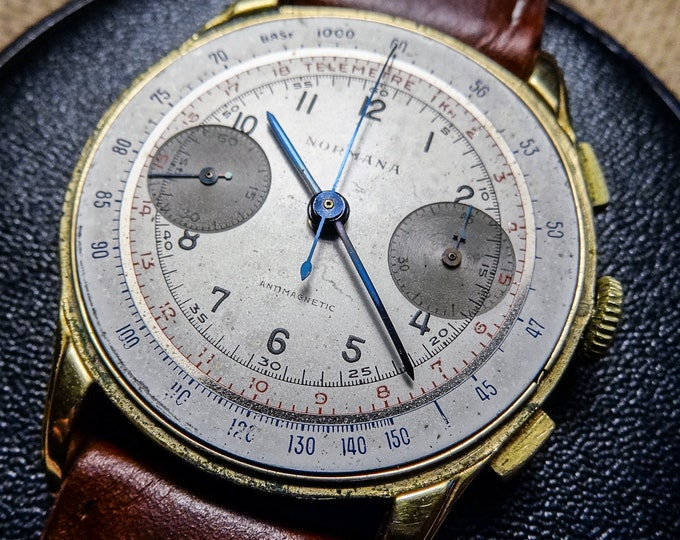 NORMANA Chronograph - Blued hands - Column wheel - 37mm
