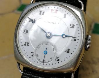 DOXA 1911 Wristwatch - Silver Case - Blued Breguet hands