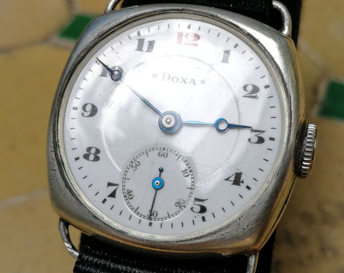 DOXA 1911 Wristwatch - Silver Case - Blued Breguet hands