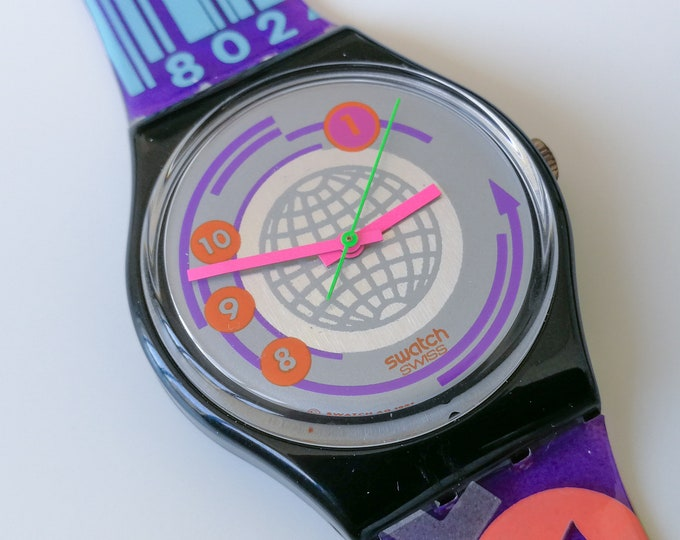 "Swatch GB143 ""EAN Code"" - NOS - 1992 - With box and papers"