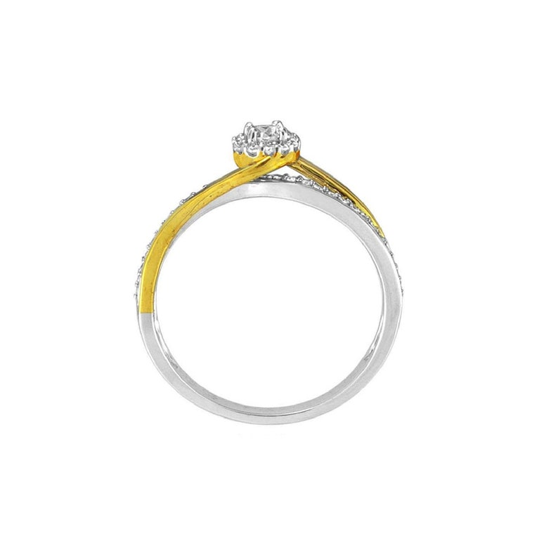 14 Cttw Diamond Twist Promise Ring in 10K Gold