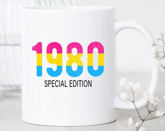 Custom Pansexual Birthday / Mug / Pansexual Birthday Mug / Custom Pansexual Birthday Gift / Pansexual Pride Mug / Pansexual Rainbow