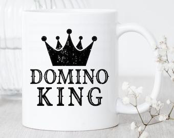 Domino King / Domino Mug / Gift For Domino Player / Domino Lover Mug / Domino Master Gift / Funny Domino Mug