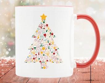 Dentist Christmas Tree / Christmas Gifts For Dentist / Dentist Christmas Mug / Dentist Gift / Dentist Coffee Mug / Christmas Dental Gifts