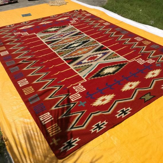 Southwestern Navajo Kilim Dhurry Handmade Area Rug 100