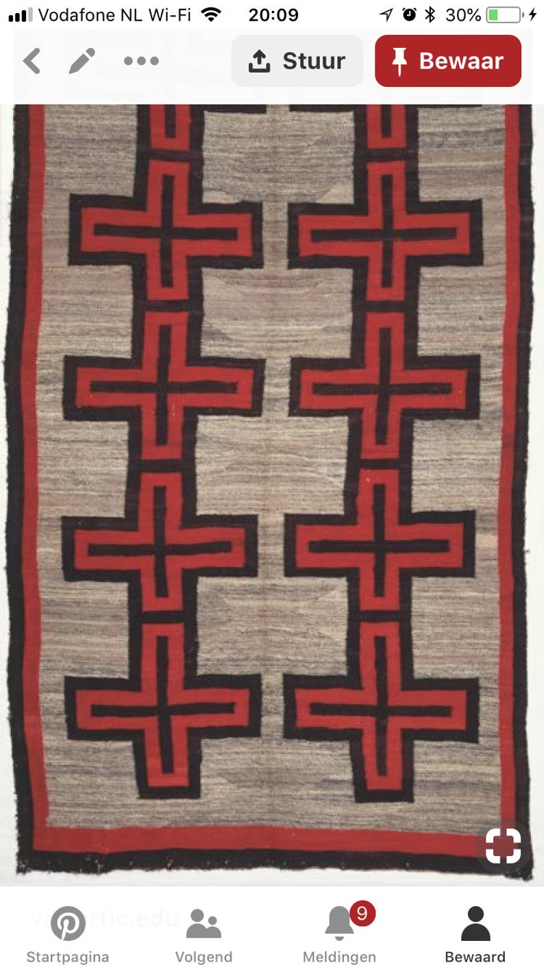 Hand Woven Red Wool Rug Turkish Kilim Dhurrie Persian