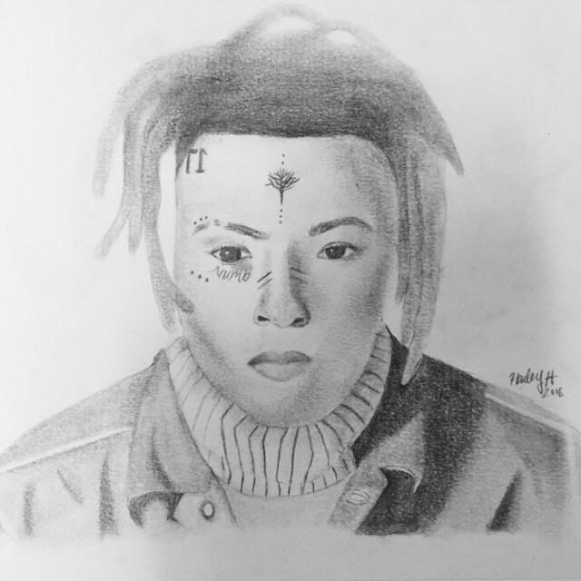 Drawing Xxxtentacion: Xxxtentacion Portrait Drawing