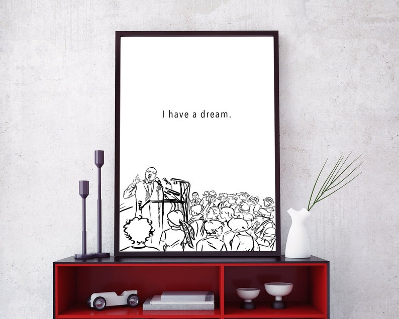 Martin Luther King Printable Posters Mlk Digital Download Etsy