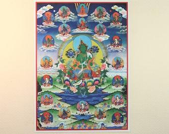 Twenty-one Taras Tibetan Thangka