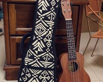 9499dddd158 Handmade Retro padded canvas ukulele case fits for concert ukulele 23