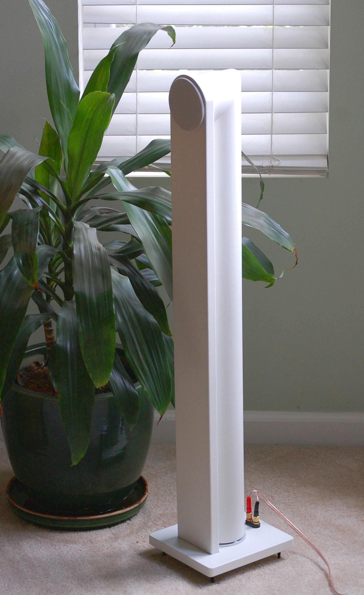 One Pair Bossa Nova Hand Made in USA White Mini Tower Speaker