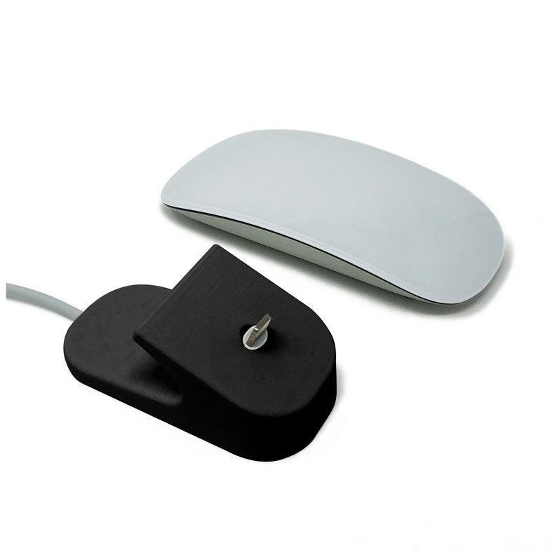 Charging Dock for Apple Magic Mouse 2 \u2013 3D Printed Charger Dock Mount Holder for iMac or Macbook