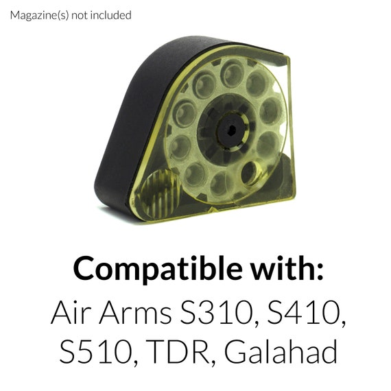 Air Arms S310//S410//S510//TDR//Galahad Magazine Magnet Box Case Holder Cover Rifle