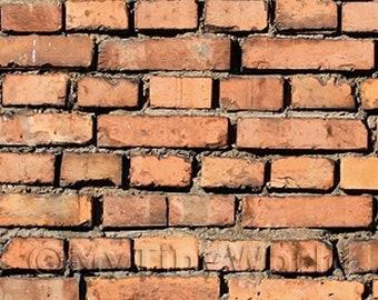 Other Dollhouse Miniatures Dolls House Miniature New Dark Red Brick Pattern Cladding